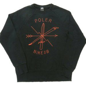 Nike SB Poler Black Sweatshirt Mens Medium Crew